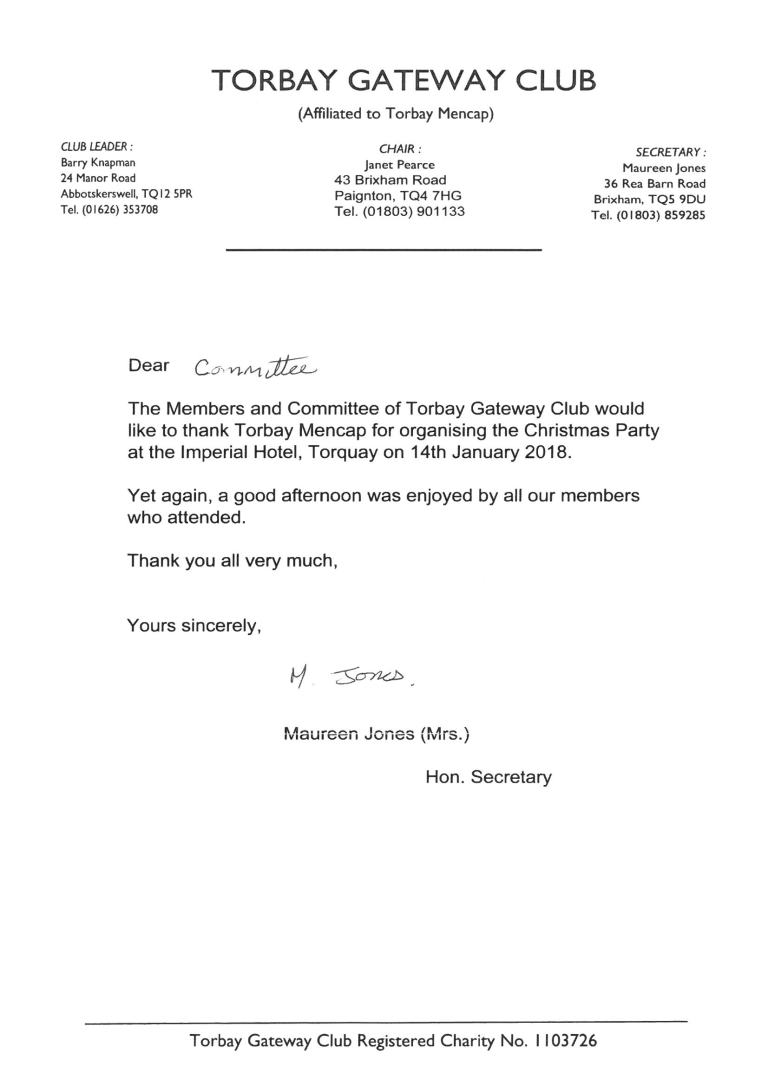 Gateway Letter