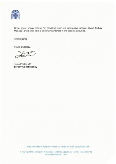 Kevin Foster MP Letter 2