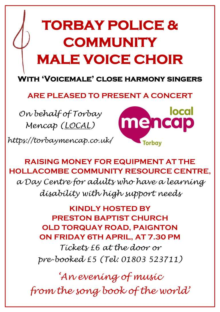 Torbay Mencap Fundraiser March 2018-1